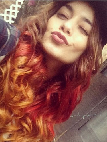 vanessa hudgens gets new red hair celebrity hair styles. Black Bedroom Furniture Sets. Home Design Ideas
