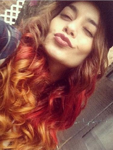 vanessa hudgens gets new red hair celebrity hair styles. Black Bedroom Furniture Sets. Home Design Ideas