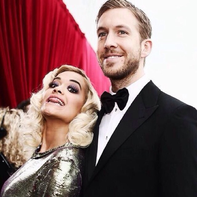 Rita Ora and Calvin Harris are back together at the Grammy Awards Rihanna Instagram