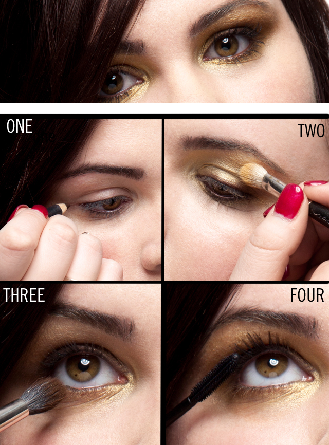 4 steps to a gold smokey eye :: beauty tips and makeup ...