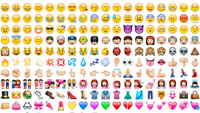 Some popular emoji characters, from http://www.cosmopolitan.co.uk/entertainment/a25973/apple-introduce-culturally-diverse-emoji/