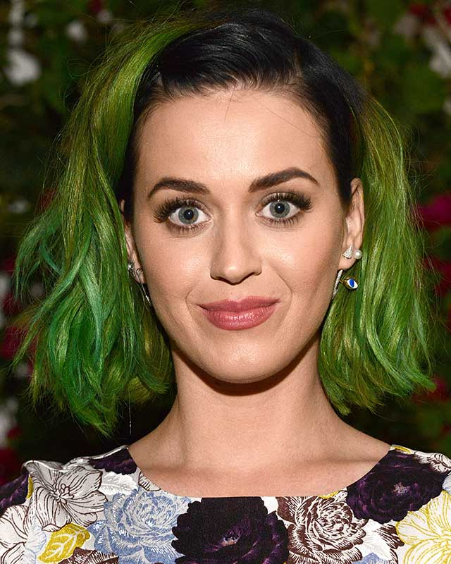 A proper look at Katy Perry's green hair :: New hair ...