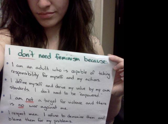 Anti feminism tumblr