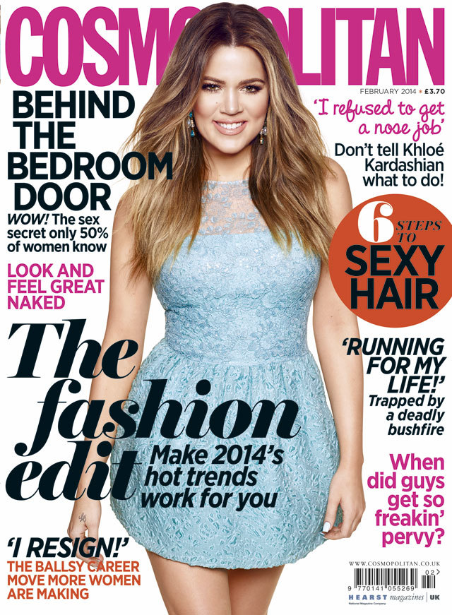 Khloe Kardashian's Cosmopolitan cover February 2014 :: On divorcing ...